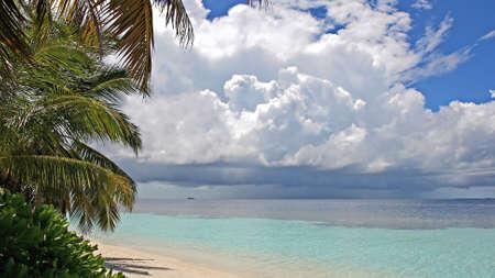 ari: Thunderstorm approaching tropical island, Kandoludu, Ari Atoll, Maldives