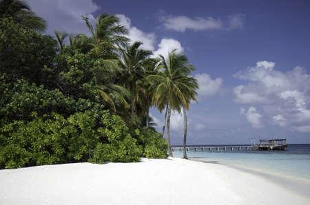 ari: Secluded Tropical white beach, Mirihi, South Ari Atoll, Maldives
