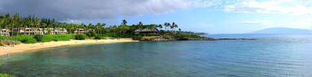 Panorama of Kapalua Bay, Maui, Hawaii, USA Stok Fotoğraf - 6575645