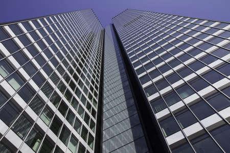 hessen: Frankfurt Skyscraper in the financial district, Hessen, Germany Stock Photo