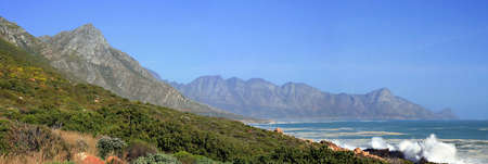 Clarence Drive Panorama on the Garden Route, Gordons Bay, Western Cape, South Africa