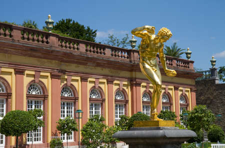 Golden Sculpture in the Orangery of Residence Weilburg, Hessen, Germany Stock Photo - 7384120