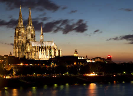 The Cathedral of Cologne at Sunset - A World Heritage Site, Cologne, Germany