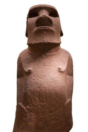 rapa nui: Isla de Pascua - Rapa Nui estatua aislados sobre fondo blanco