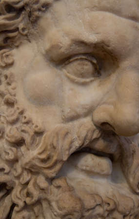 Detail of the head of an ancient greek philosoph