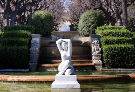 palau: Sculpture in the garden of Palau Reial de Pedralbes, Barcelona, Spain