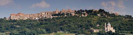 montepulciano: Panorama of Renaissance village Montepulciano, Tuscany, Italy