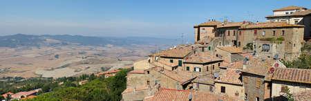 Panorama of Medieval Volterra, Tuscany, Italy Stock Photo