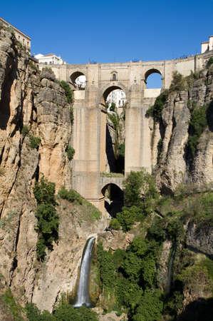 ronda: Puente Nuevo at Ronda, Granada, Spain Stock Photo