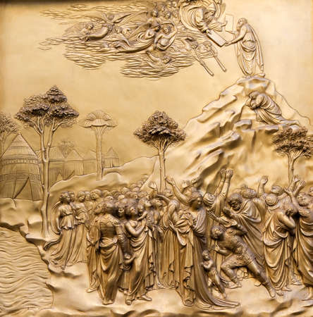 Paradise Door of the baptistery, Florence, Tuscany, Italy