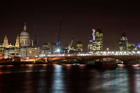 Cityscape of London with St. Paul cathedral, London, England