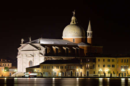 chiesa: Chiesa del Redentore at night, Giudecca, Venice, Italy