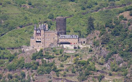 burg: Medieval castle - Burg Katz. Rhine Valley, Germany