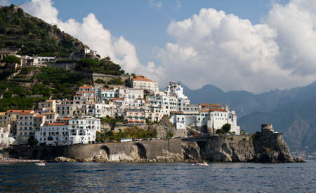 Medieval village of Amalfi, Campania, Italy Stock Photo