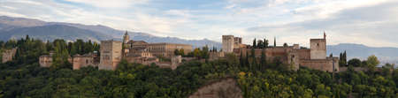 Panorama of the Alhambra Palace, Granada, Andalusia, Spain