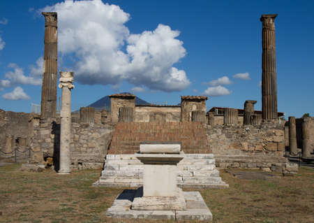 Temple District of Roman village Pompeii, Campania, Italy Stok Fotoğraf