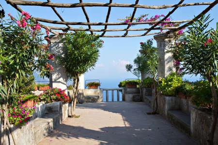 Mediterranean Garden at a villa in Ravello, Campania, Italy