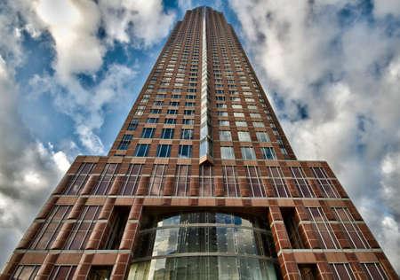hessen: Modern skyscraper - HDR version, Frankfurt, Hessen, Germany