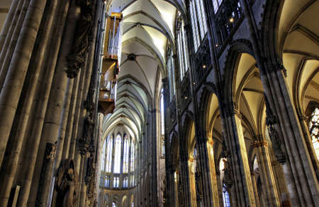 nave: Nave of Gothic Dome in HDR, Cologne, Germany
