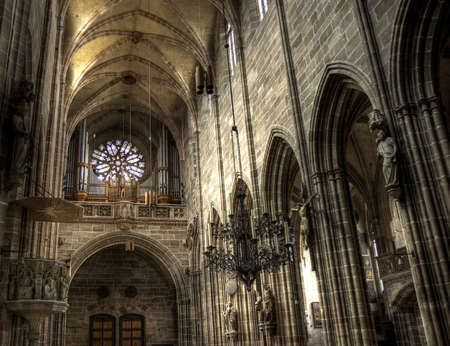 Nave of St. Lawrence - Lorenzkirche, Nuremberg, Germany