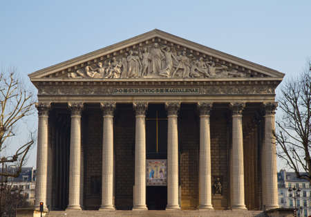 Portal of Eglise de la Madeleine, Paris, France Stok Fotoğraf