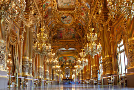 Golden Interior of Opera Garnier, Paris, France