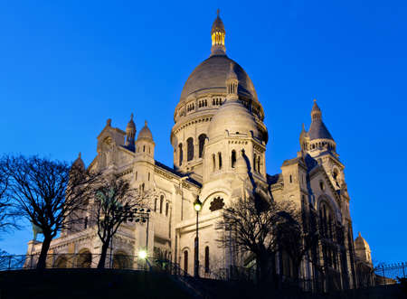 Sacre Coeur during the blue hour, Paris, France photo