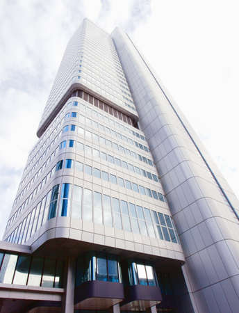 The Silver Tower in the financial district of Frankfurt, Hessen, Germany Stock Photo - 13670025