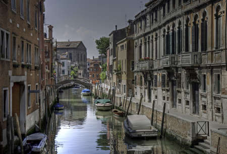 felice: Palazzi reflecting in Rio di San Felice, Cannaregio, Venice, Italy