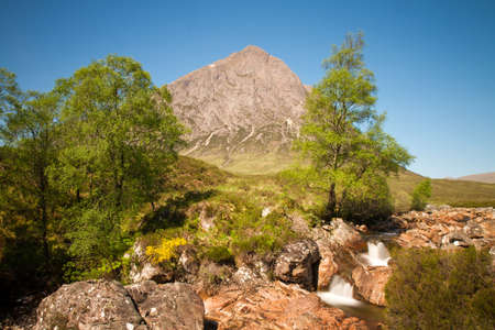 Mountain Buachaille Etive Mor in the Glencoe valley, Scotland photo