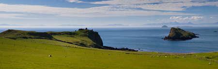 Panorama of the north coast of Skye, Scotland photo
