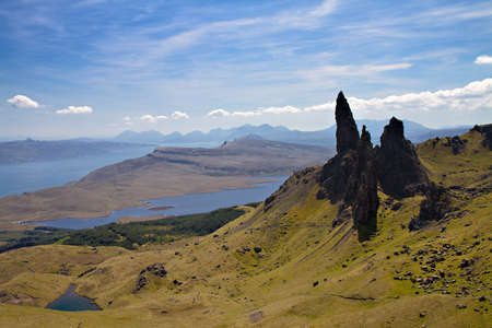 Old man of Storr, Trotternish Peninsula, Isle of Skye, Scotland photo