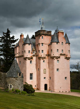 Baronial Craigievar Castle in Pink, Scotland, United Kingdom Editorial