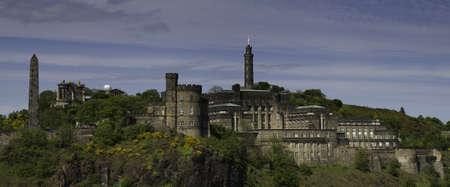 Panorama of Calton Hill, Edinburgh, Scotland