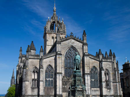 Facade of St  Giles Cathedral, Edinburgh, Scotland, United Kingdom
