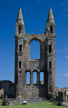 Ruined tower of St  Andrews Cathedral, Scotland, United Kingdom photo