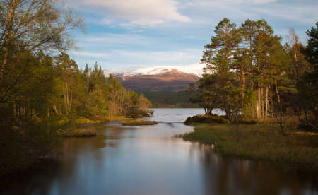 Loch Morlich in the evening sun - Long Exposure version, Cairngorms National Park, Scotland