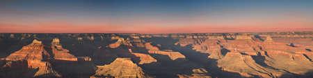 Panorama - Sunset at Hopi Point, Grand Canyon National Park, Arizona, USA photo