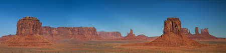Panorama of Monument Valley as seen from Artist Point, Arizona