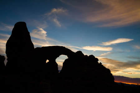 turret: Silhouette of Turret Arch