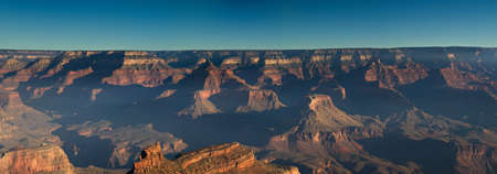 Panorama of the Grand Canyon South Rim at sunrise, Arizona photo