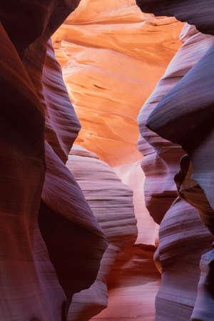 slot canyon: Red Rocks of a Slot Canyon, Arizona, USA Stock Photo