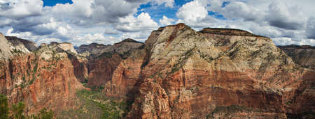 Canyon of the Zion National Park as seen from Angels Landing, Utah photo