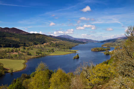 Queens view at Loch Tummel, Perthshire, Scotland Stock Photo