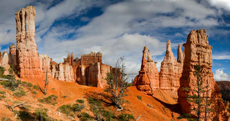 Panorama of Queens Stone Garden, Bryce Canyon National Park, Utah photo