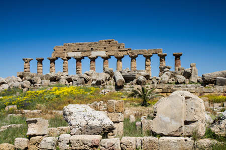 Ruin of the Acropolis, Selinunte, Sicily, Italy