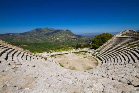 segesta: Ancient ruin of the greek theater, Segesta, Italy, Sicily