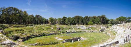 Roman Theater at Syracuse, Sicily, Italy