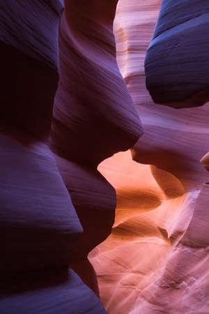 slot canyon: Sandstone formation in slot canyon, Arizona, USA