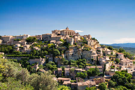 gordes: Panorama of hilltop town Gordes, Provence, France